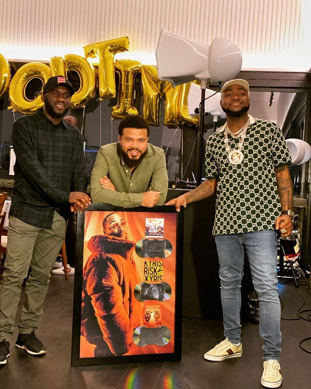 Davido : double disque de platine avec son album « A good Time »