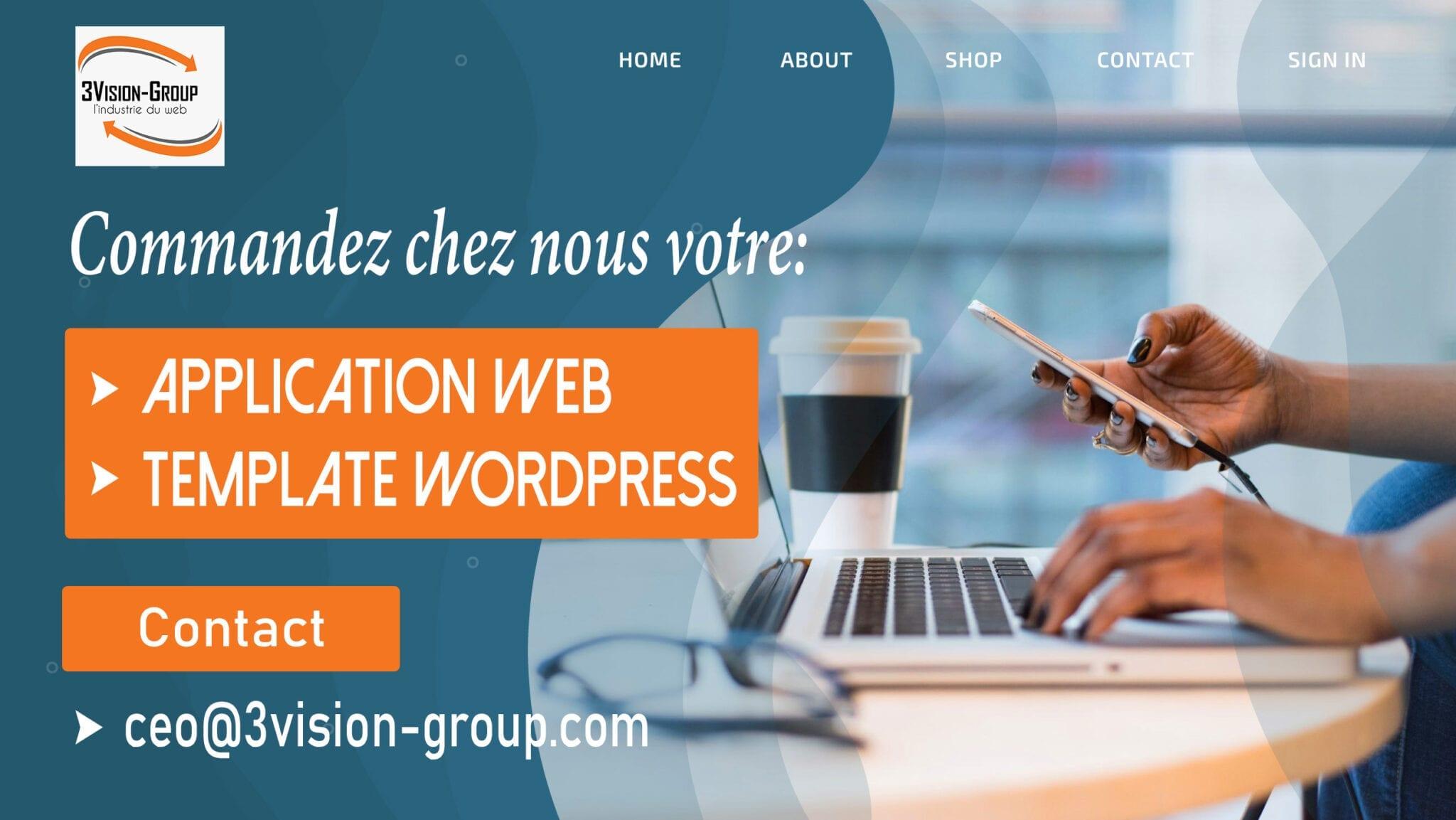 Faites confiance à 3Vision-Group pour votre Présence SEO et la conception de vos Applications Web, Sites Internet et Templates et plugins WordPress