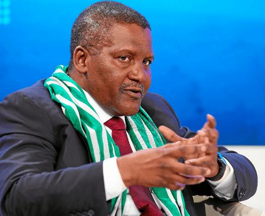 Le milliardaire nigérian Aliko Dangote au Togo