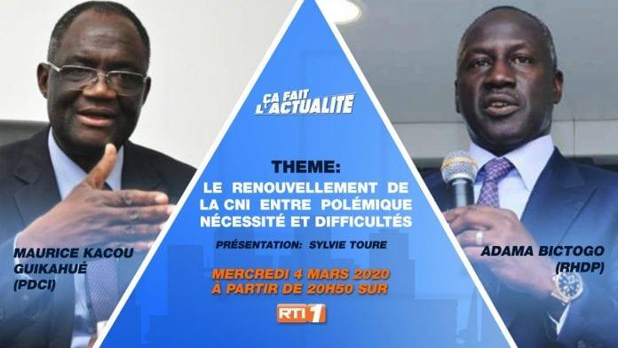 Bictogo fuit le débat télévisé contre Guikahué : « en clair, la CNI est bien financé par la Banque mondiale »
