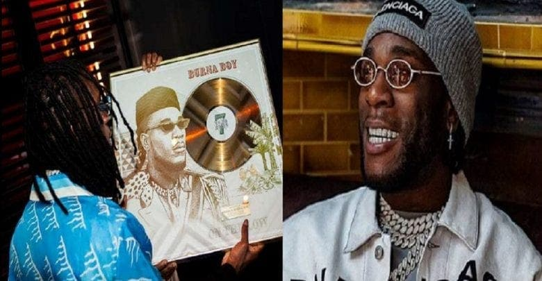 Burna Boy gagne un disque d'or en France