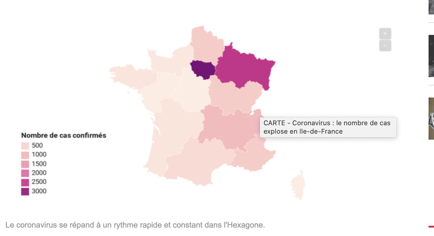 CARTE – Coronavirus : le nombre de cas explose en Ile-de-France