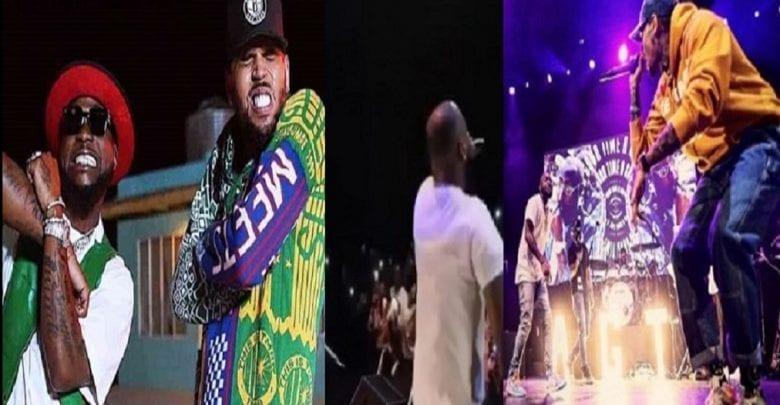 Chris Brown surprend Davido sur scène à Los Angeles: Vidéos