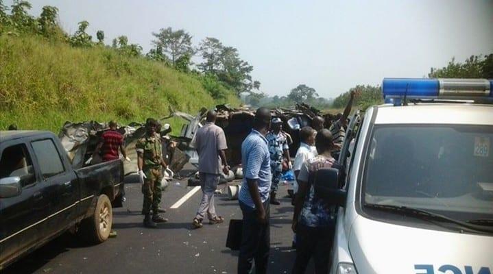 Côte d'Ivoire: 10 morts et 31 blessés dans une collision, sur l'autoroute du nord