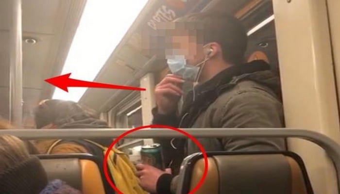 Coronavirus: un homme filmé en train de répandre sa salive sur une barre de la rame dans un métro-(vidéo)