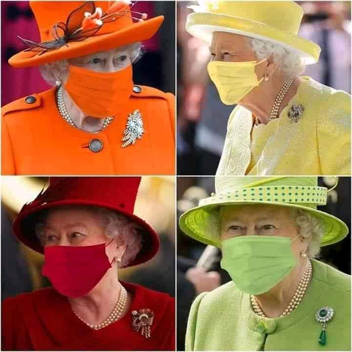 La reine Élisabeth II fait le buzz avec ses masques sur mesure