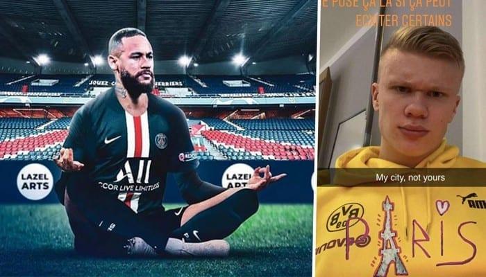 Ligue des champions: Haaland répond à Neymar et ses coéquipiers du PSG