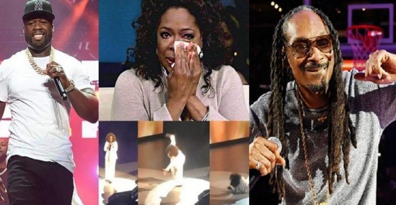 Snoop Dogg et 50 Cent se moquent d'Oprah Winfrey après sa chute sur scène: vidéo