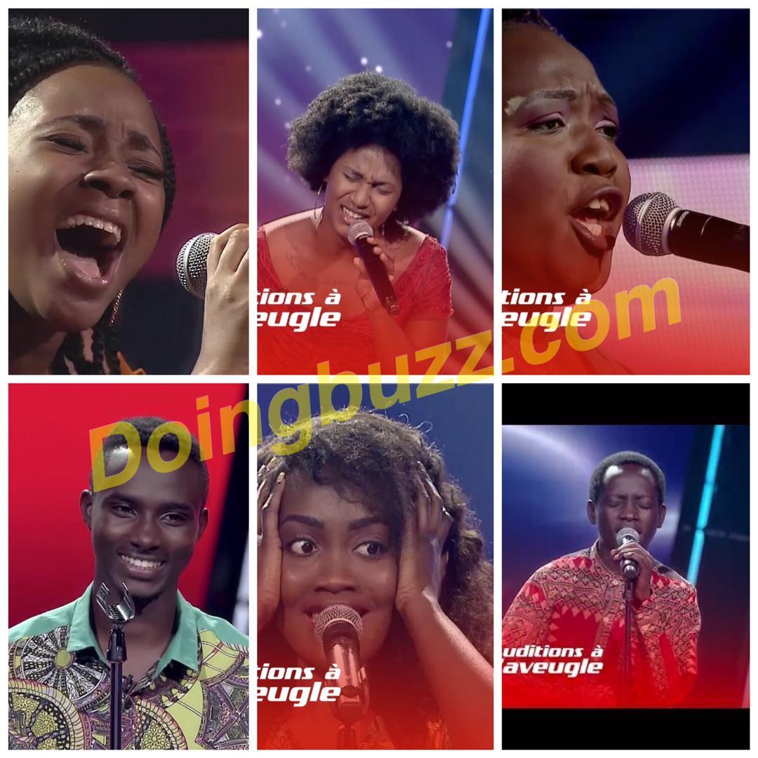 The Voice Afrique Francophone : Top 06 des talents qui ont séduits les coachs aux auditions à l'aveugle