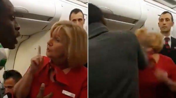Un passager africain gifle violemment une hôtesse de l'air avant de lui cracher dessus en pleine pandémie de coronavirus(VIDEO)