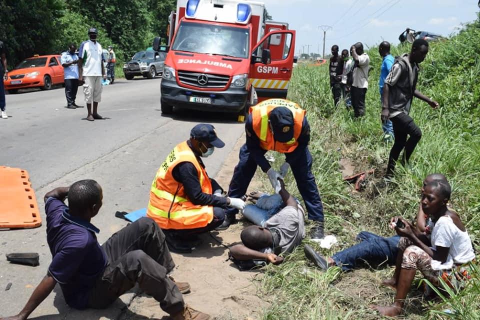 Abidjan : un grave accident fait des victimes sur la route N'dotré