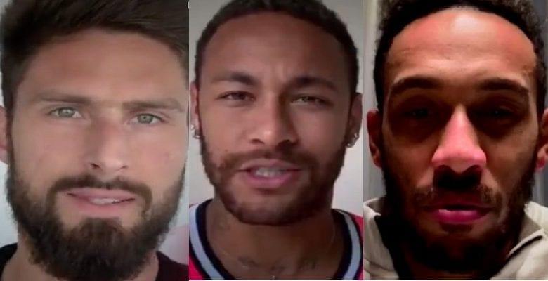 Aubameyang, Giroud, Neymar aident l'ONU à lutter contre le COVID-19