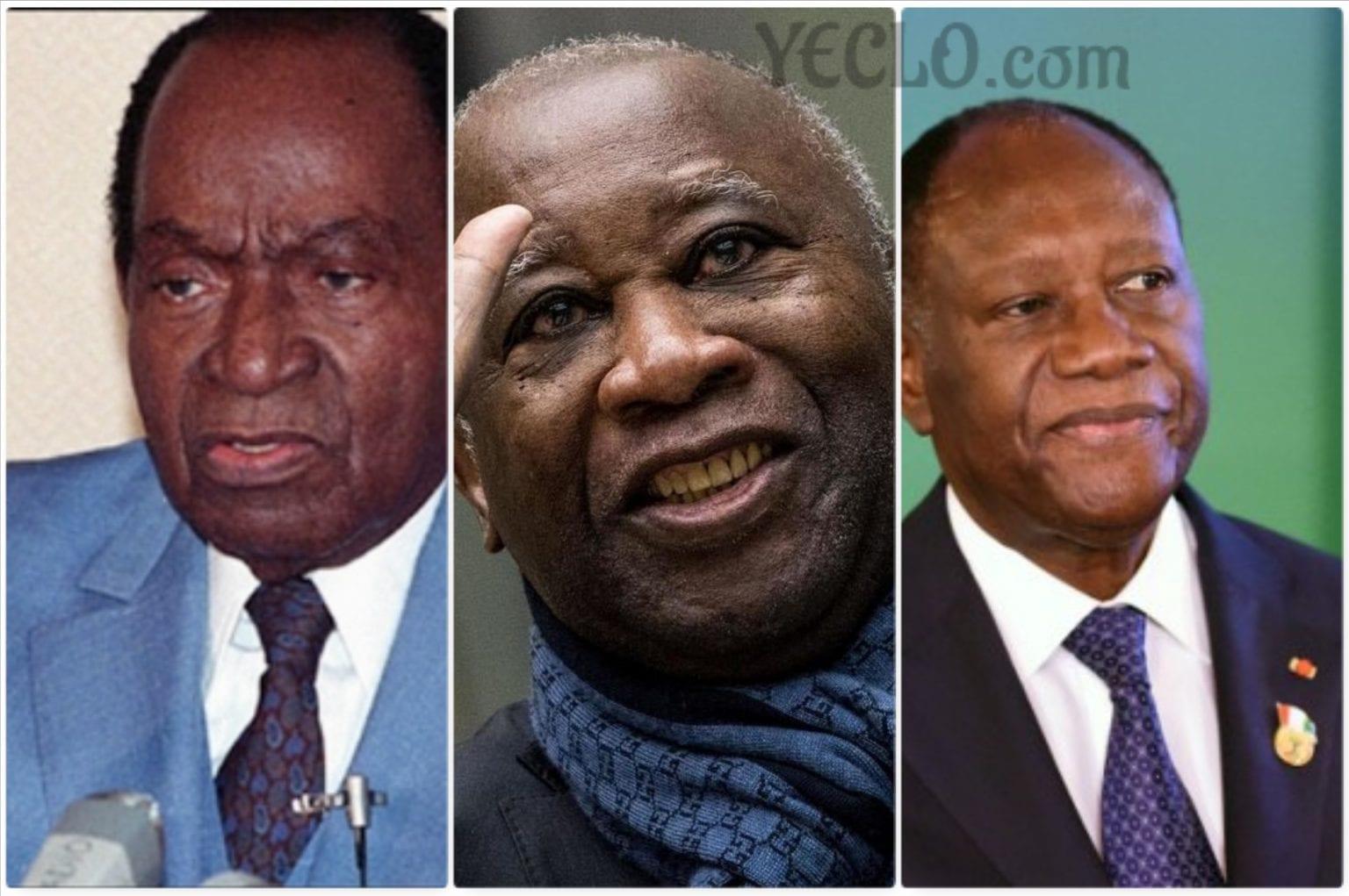 Houphouët, Gbagbo et Ouattara : 3 présidents, 3 crises