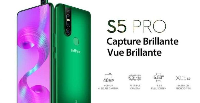 Infinix dévoile son S5 PRO: le tout premier smartphone au monde avec une caméra selfie pop-up de 40MP