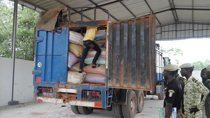 Trafic en Côte d'Ivoire : 110 tonnes d'anacardes saisies à Presso, à la frontière avec le Ghana