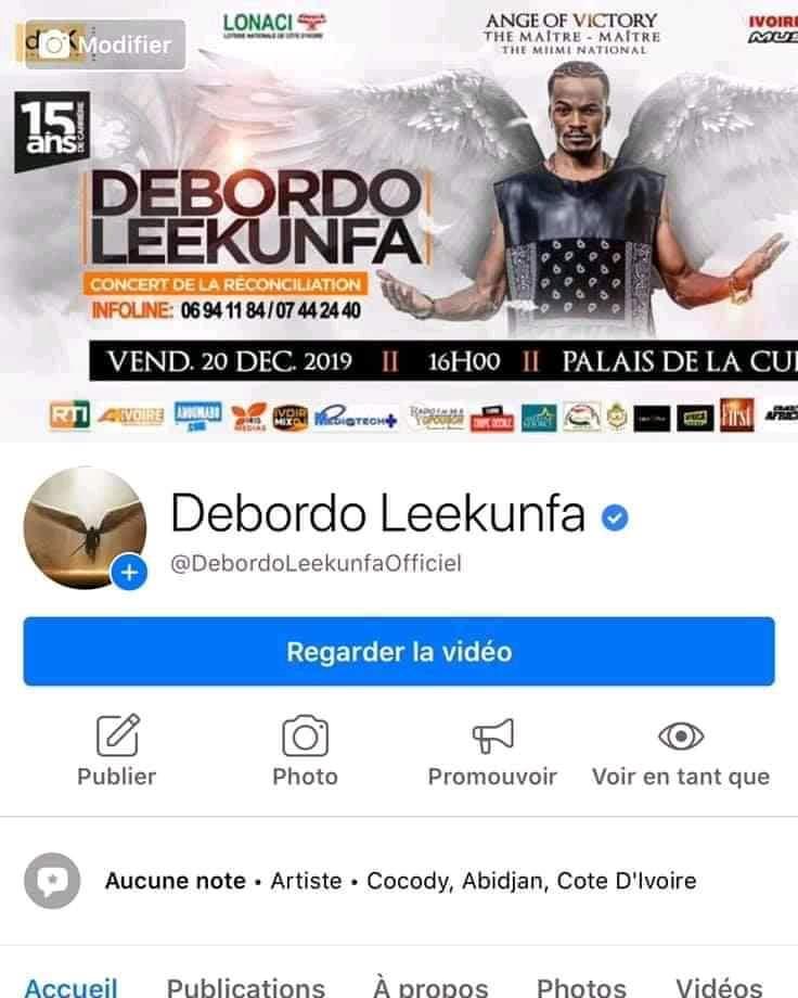 Après plusieurs années, la page Facebook de Debordo Leekunfa est désormais certifiée