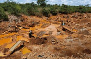 Mine d'or, un site minier au Kenya