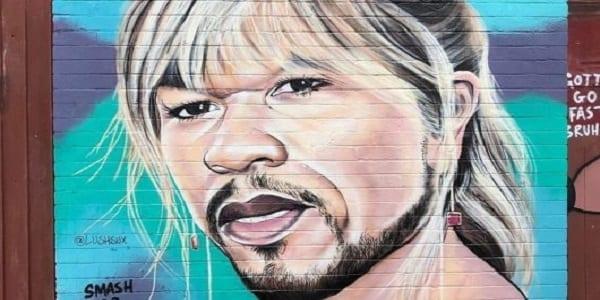 50 Cent: sa réaction après avoir été caricaturé par un street-artiste