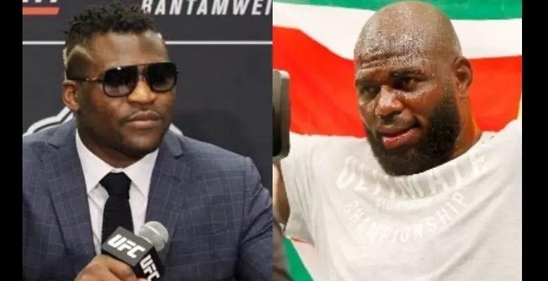 Boxe: Francis Ngannou tacle son adversaire Jairzinho Rozenstruik après l'avoir battu par KO