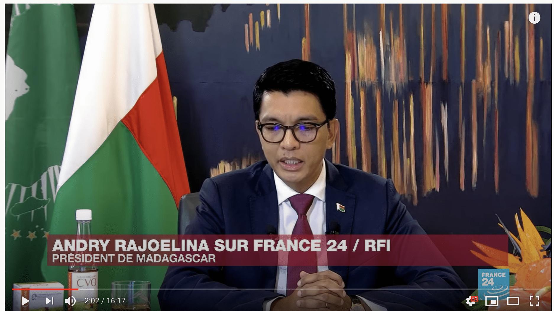 A. Rajoelina sur France 24 : «Le problème du remède Covid-Organic, c'est qu'il vient d'Afrique»