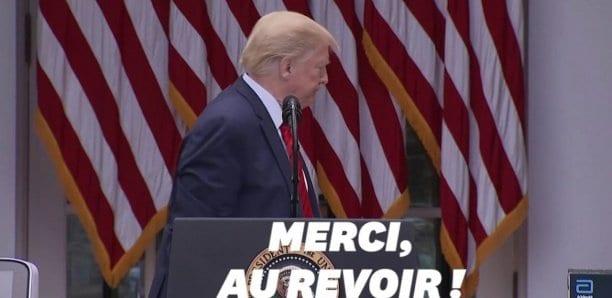 Donald Trump, agacé, stoppe brutalement sa conférence de presse