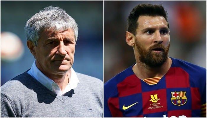 FC Barcelone : critiqué par Messi sur ses stratégies, l'entraîneur Quique Setien riposte