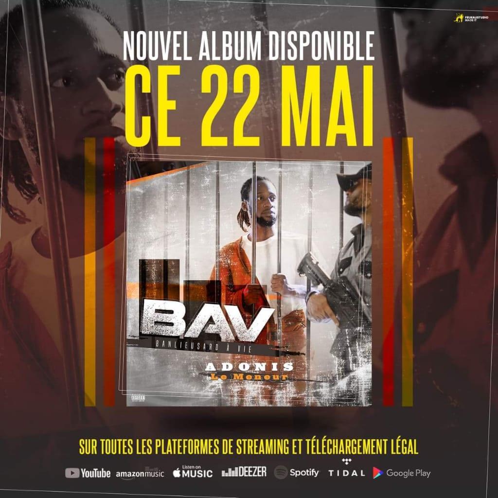 [Exclu 228]Adonis LeMeneur: L'album «Banlieusard à vie» sort officiellement le 22 Mai