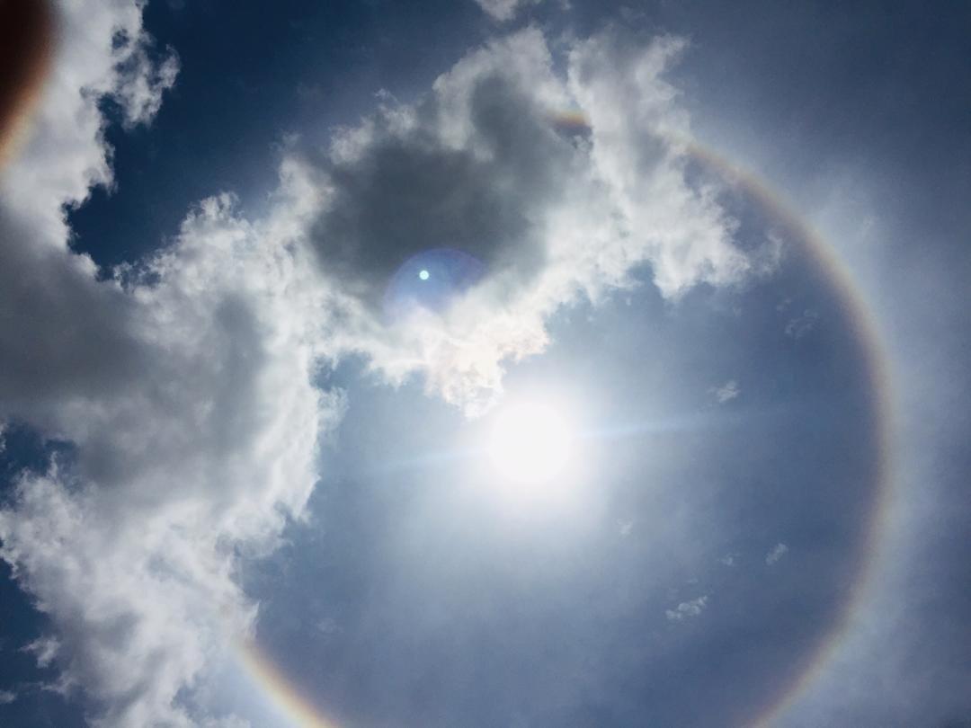 Togo: Un halo offre un merveilleux spectacle autour du soleil (Photos)