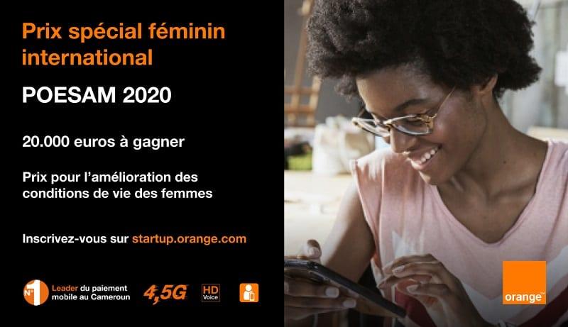 POESAM 2020 : ORANGE OUVRE UN PRIX SPÉCIAL FÉMININ INTERNATIONAL