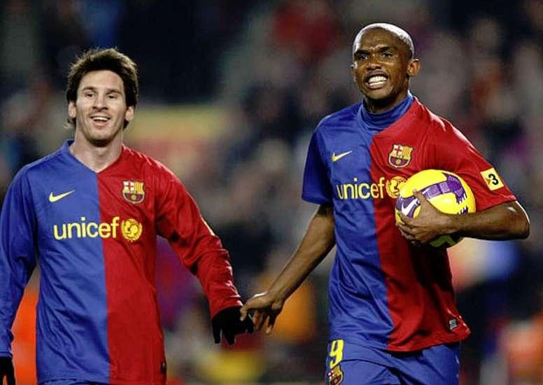 Samuel Eto'o : « Je n'ai pas joué avec Messi, il a joué avec moi »