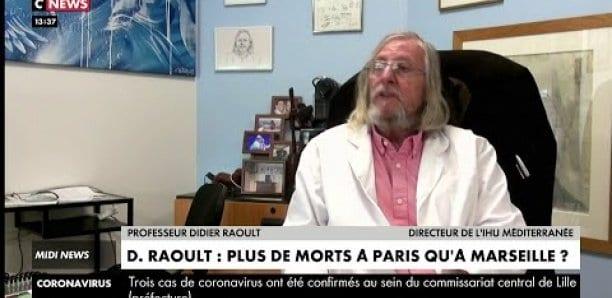 Selon Didier Raoult, la mortalité du coronavirus est 5 fois plus forte à Paris qu'à Marseille