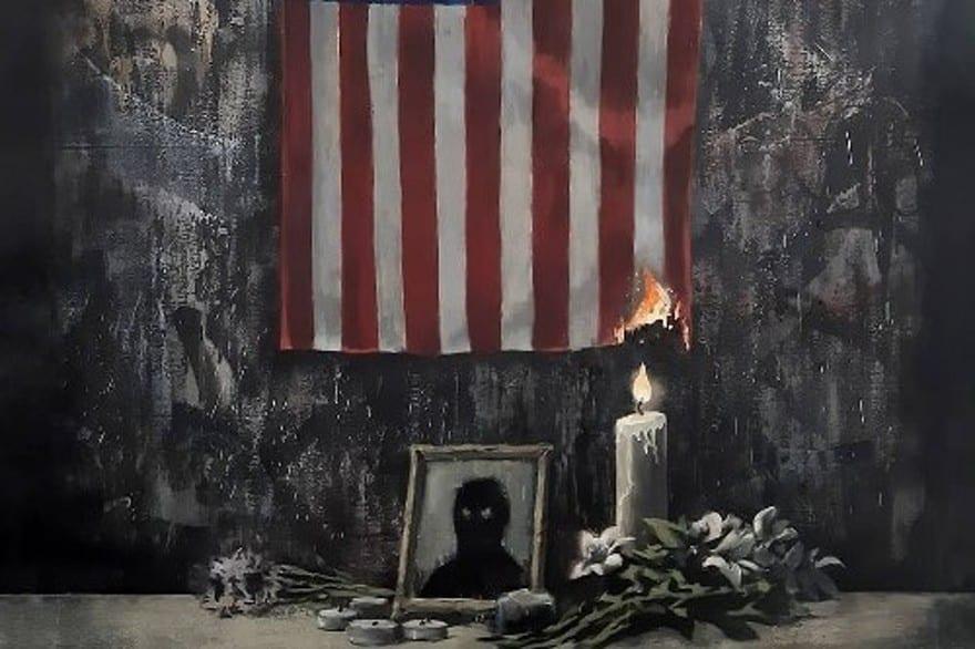 Le mystérieux artiste Banksy rend un vibrant hommage à George Floyd