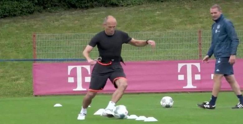 Arjen Robben: son retour à l'entrainement au Bayern Munich (vidéo)