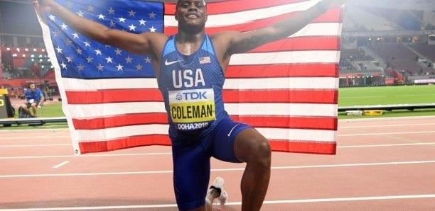 Athlétisme: le champion du monde du 100 m Coleman dit avoir manqué un test antidopage