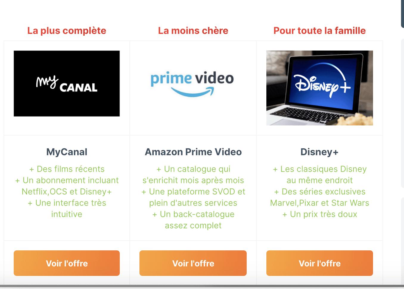 Service de streaming : Le comparatif des meilleures offres SVOD en 2020