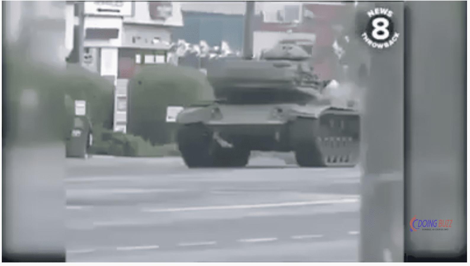 Un citoyen américain a volé un char lors des émeutes et des manifestations violentes USA (Video)