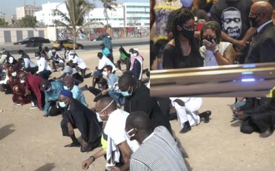 Corniche de Dakar/ Sénégal: cérémonie d'hommage à George Floyd -video