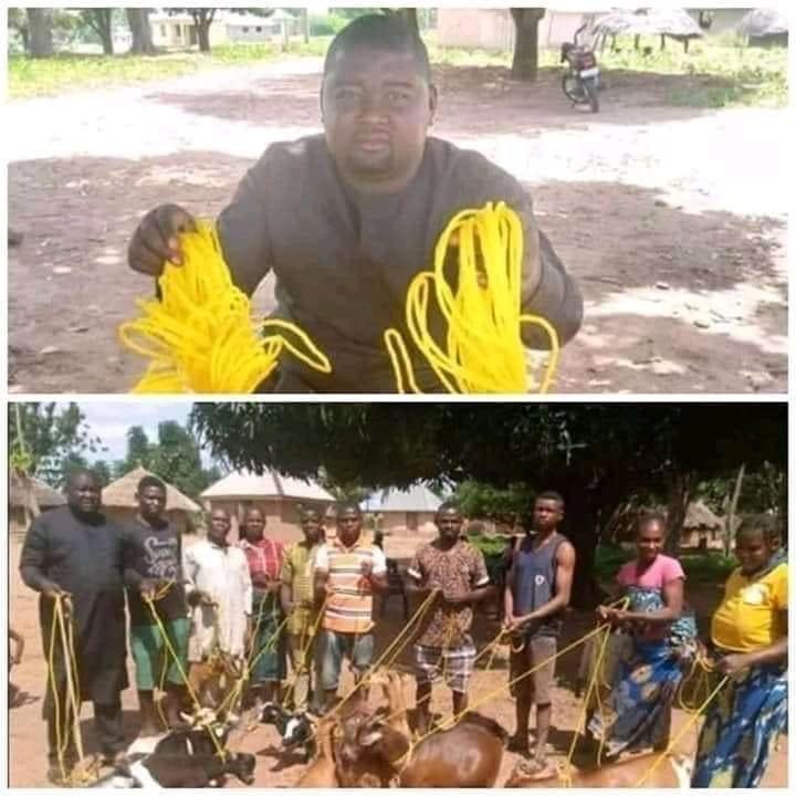 Nigeria/insolite : Le politicien Daniel Ukpera fait don de cordes pour attacher les chèvres (Photos)