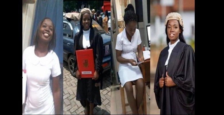 Elizabeth Owusua: l'histoire inspirante d'une jeune ghanéenne qui travaille comme avocate le jour et infirmière le soir