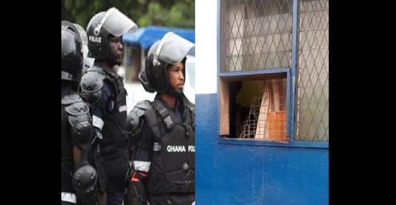 Ghana: un commissariat braqué par un groupe de voleurs- Photos