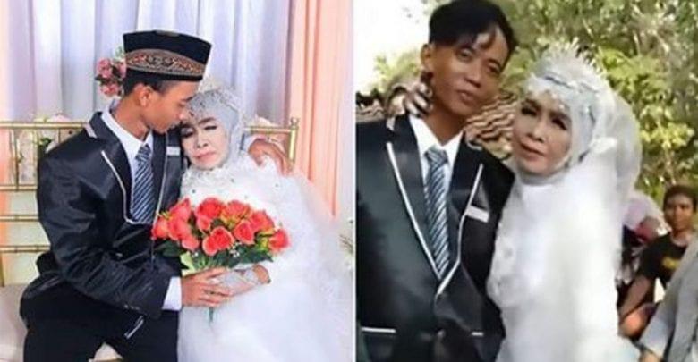 Indonésie: une femme de 65 ans épouse son fils adoptif de 24 ans (Photos)