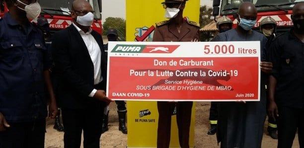 Lutte contre la Covid-19 : Puma Energy offre 10 000 litres de carburant aux sapeurs et aux services d'hygiène de Mbao