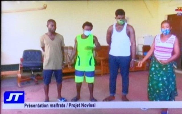Togo : 4 escrocs arrêtés dans le cadre du programme Novissi