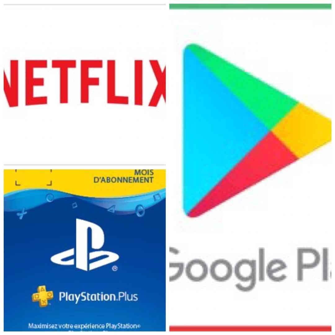 Faites plus facilement votre abonnement Netflix, l'achat de vos portefeuilles  PLAYSTATION pour les jeux en ligne et autres paiements