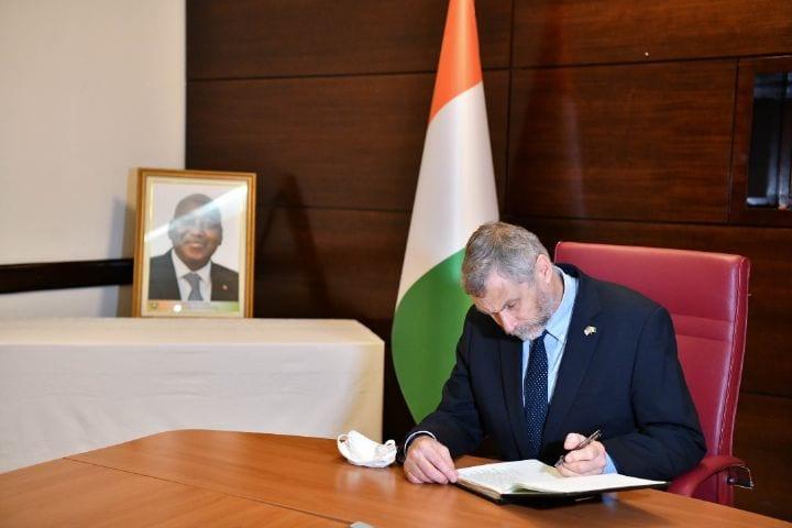 CÔTE D'IVOIRE : DÉCÈS DU PREMIER MINISTRE AMADOU GON COULIBALY : DIPLOMATES ET (…)
