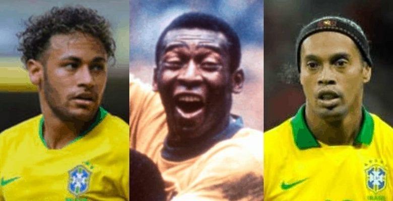 Football : découvrez les meilleurs joueurs brésiliens de tous les temps… Ronaldinho 3e, Neymar 11e