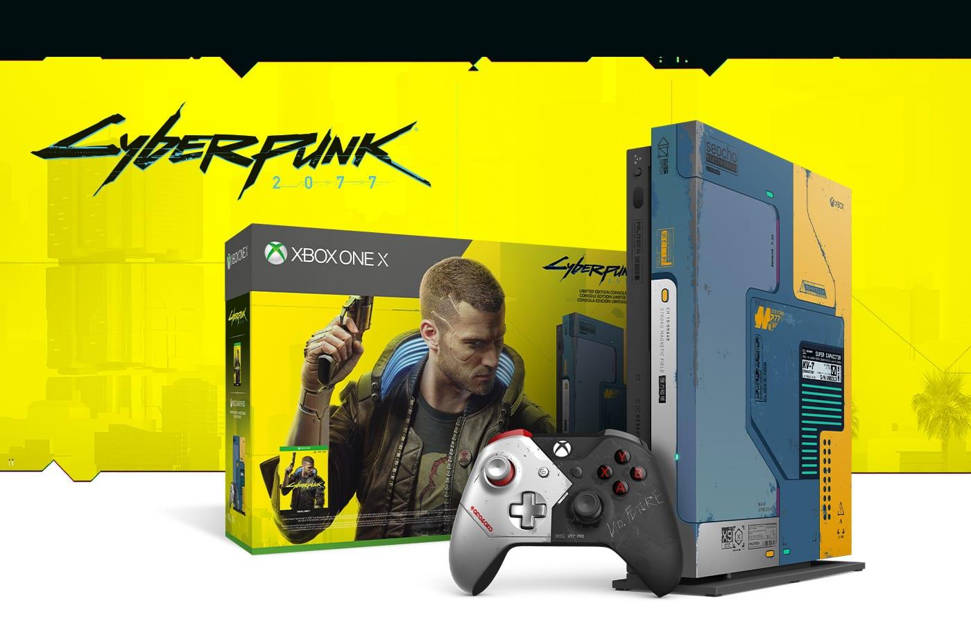 PACK XBOX ONE X EDITION LIMITÉE CYBERPUNK 2077 À 399€ AU LIEU DE 499€
