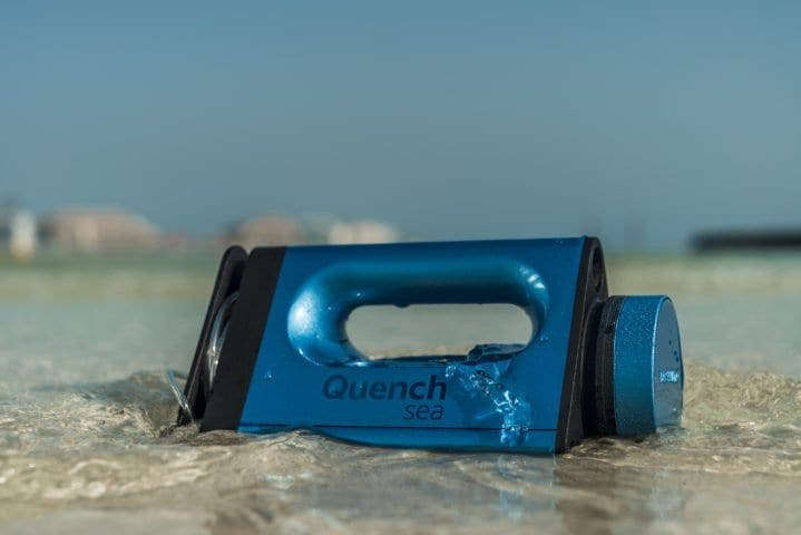 QUENCH SEA : UN DISPOSITIF PORTABLE POUR POTABILISER L'EAU DE MER À 55 EUROS