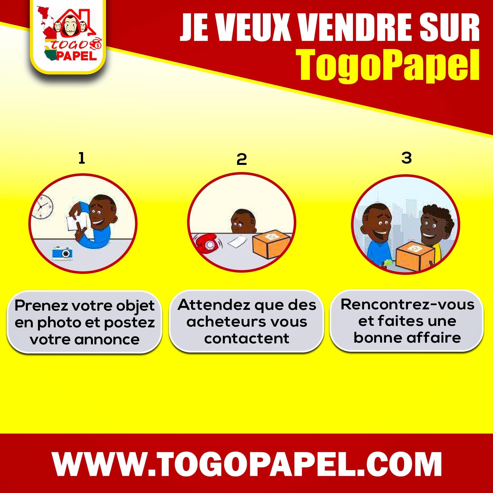 Voici comment s'incrire sur Togopapel, le site de vente et d'achat togolais