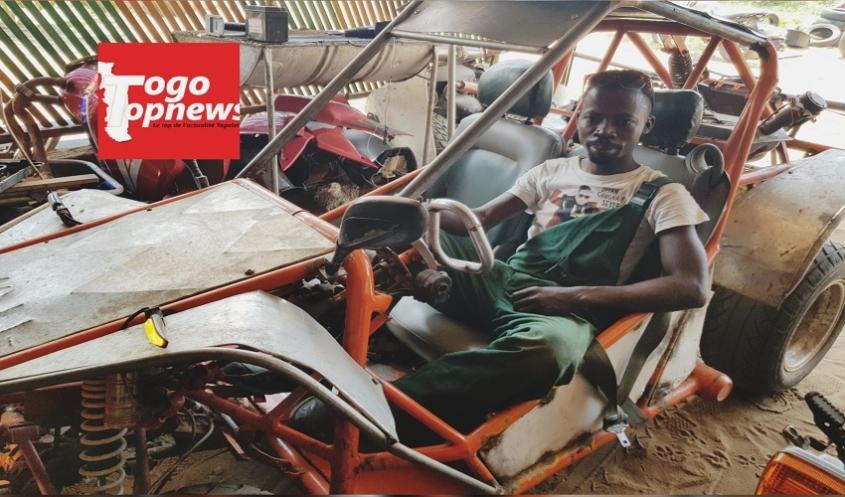 Ce jeune togolais crée un engin à 4 roues tout-terrain